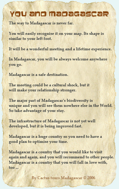 You and Madagascar statement
