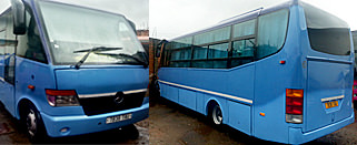 Big bus for big group tours in Madagascar