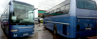 Good bus for group tours in Madagascar