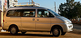 Mini van for family vacation in Madagascar