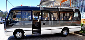 Bus for group tours in Madagascar
