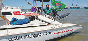 Boat for small cruise in Madagascar