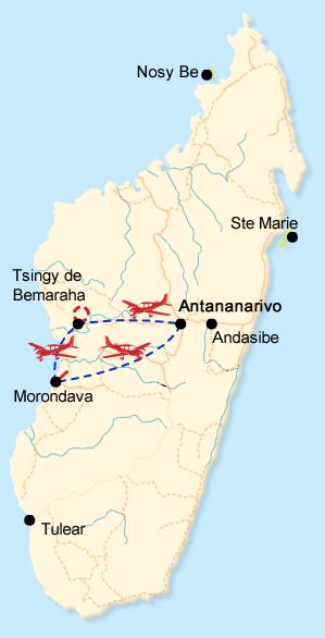Tsingy exploration map