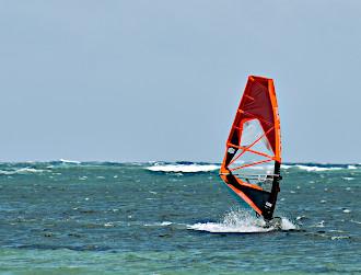 Wind surfing in Madagascar